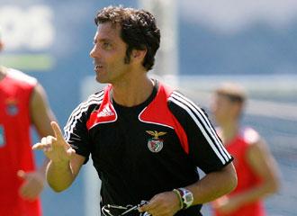 Quique, con el Benfica