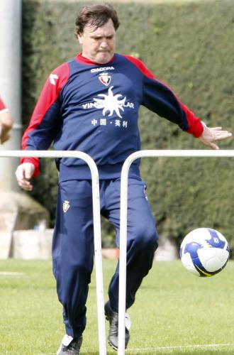 Camacho, durante un entrenamiento de Osasuna.