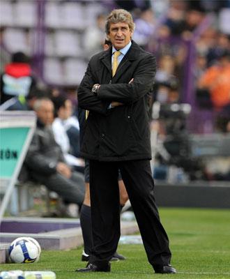 Pellegrini durante el partido contra el Valladolid.