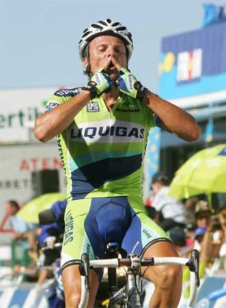 Di Luca en la edición de 2006 de la Vuelta a España.