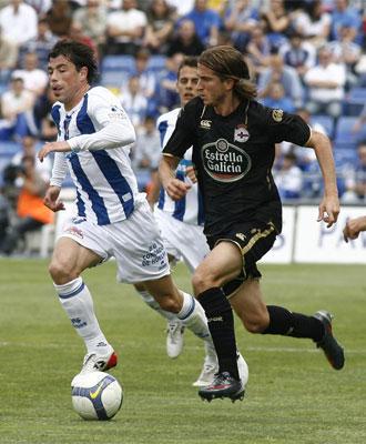 Filipe Luis se marcó un jugadón en el segundo gol del Deportivo.