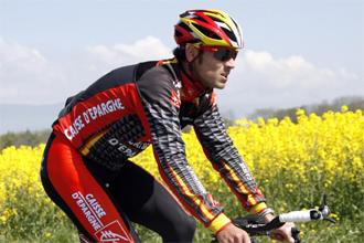 Alejandro Valverde durante un entrenamiento en Yverdon.