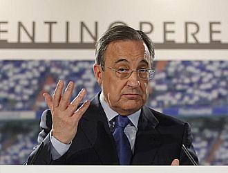 Florentino Pérez, durante su comparecencia de este jueves.