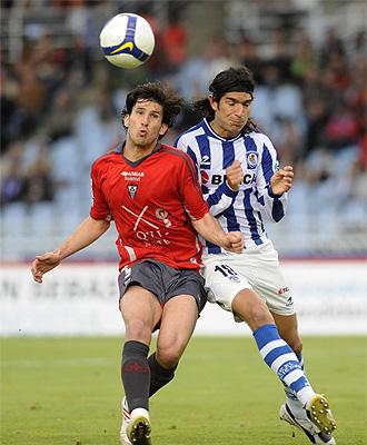 Lance del partido entre la Real Sociedad y el Albacete