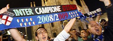 La afici�n del Inter celebra el t�tulo