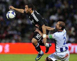 El centrocampista, ante el Real Madrid