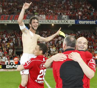 Los jugadores del Standard estallaron de alegría.