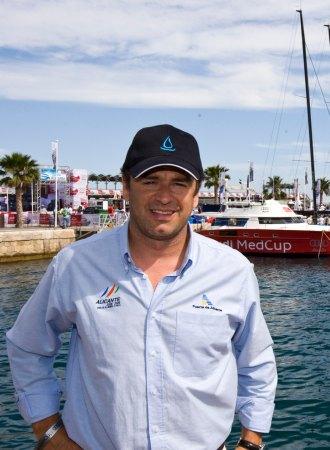 Santos González en el Puerto de Aliante durante la MedCup