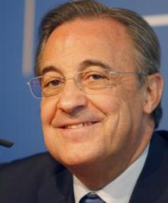 Florentino P�rez, sonriente.