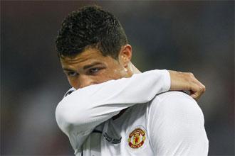 Cristiano Ronaldo se lamenta durante la final ante el Bar�a