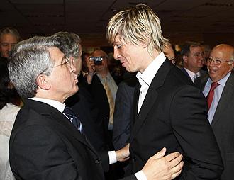 Cerezo junto a Torres en el 'Foro del Deporte' MARCA