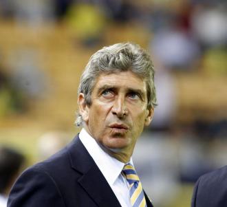 El t�cnico del Villarreal, Manuel Pellegrini.