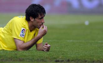 Capdevila, en un partido con el Villarreal.