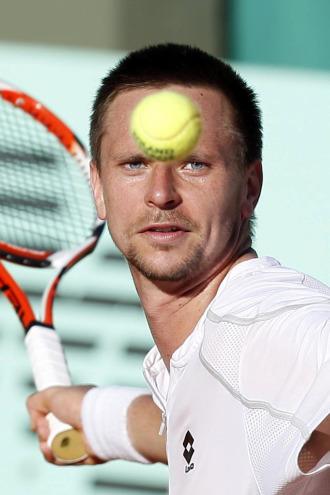 Soderling, en partido de Roland Garros ante David Ferrer.