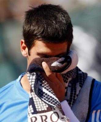 Djokovic se lamenta durante el partido ante Kohlschreiber.