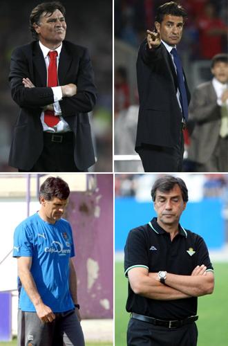 Camacho, Mendilibar, Michel y Nogu�s.