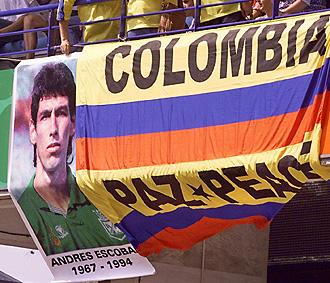 Homenaje al asesinado Andr�s Escobar