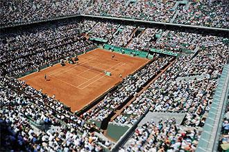Vista �rea de la Philippe Chatrier de Roland Garros