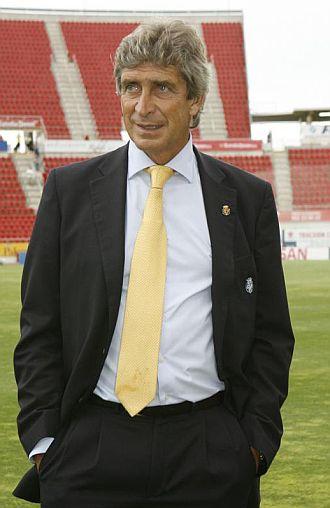 Pellegrini, durante su último partido con el Villarreal en Palma