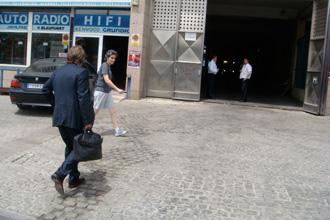 Vicente Montes, abogado de Abel Resino, a su llegada al Calder�n.