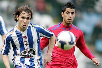 Verd�, jugando con su ex equipo, el Deportivo