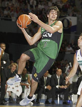 Ricky Rubio jugando los 'playoffs' de la ACB