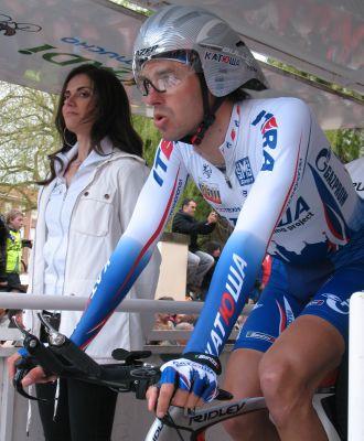 Toni Col�m durante la crono de la Vuelta al Pa�s Vasco