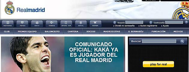 El comunicado del web del Madrid