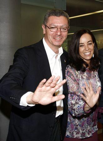 Gallard�n y Coghen, durante la visita de la comisi�n de evaluaci�n.