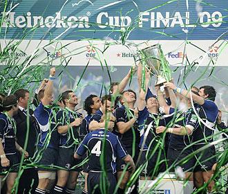 Brian O'Driscoll y sus compa�eros de Leinster esperan repetir t�tulo en la pr�xima edici�n de la Heineken Cup como hicieron el pasado 23 de mayo en Murrayfield