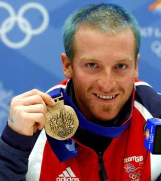Alain Baxter, con la medalla que gan� y luego perdi� en Salt Lake City