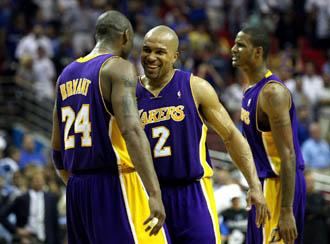 Derek Fisher y Kobe Bryant