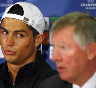 Ronaldo y Ferguson en rueda de prensa
