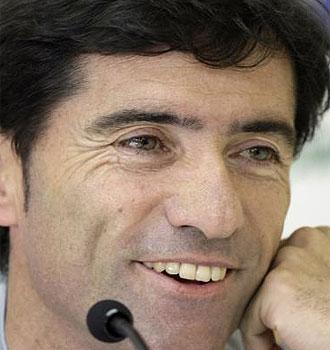 Marcelino, en rueda de prensa.
