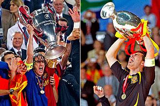 Puyol y Casillas levantan la Copa de Europa y la Eurocopa, respectivamente