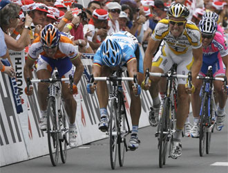Eisel se impuso en el sprint.
