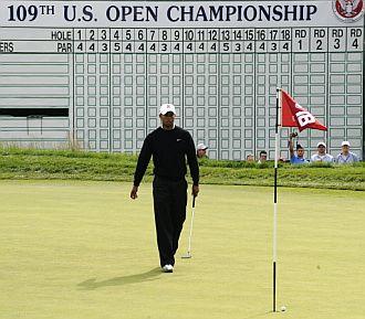 Tiger ya prepara el US Open de 2009.