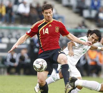 Xabi Alonso, en el partido ante Irak