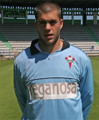 Rubén Martínez en su etapa como jugador del Racing de Ferrol.