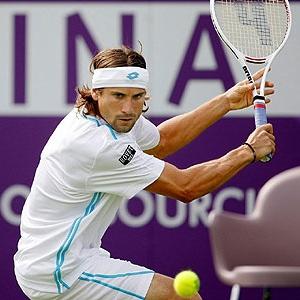 David Ferrer durante un partido
