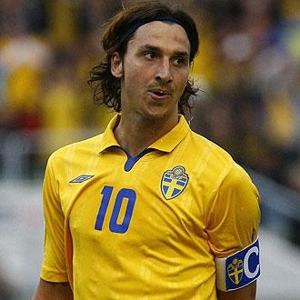 Zlatan Ibrahimovic, durante un partido con la selecci�n de Suecia.