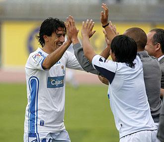 Pedro Ríos celebra un gol