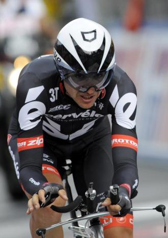 Carlos Sastre, en el Giro de 2009.