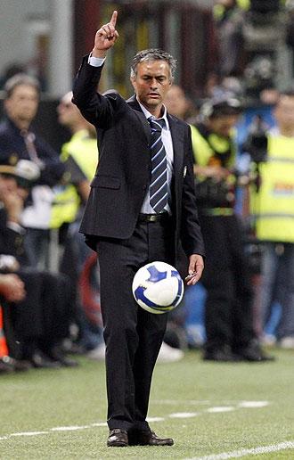 Mourinho durante un partido del Inter
