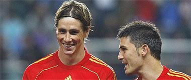 Fernando Torres y David Villa