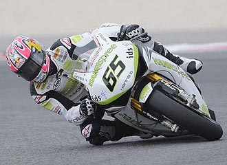 Jonathan Rea pilota su Honda en Misano.