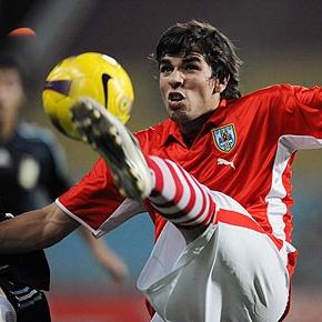 Leandro Cabrera, durante un partido con su equipo.
