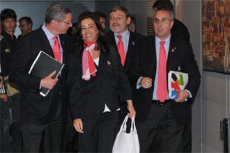 Alberto Ruiz Gallard�n, Mercedes Coghen, Jaime Lissavetzky y Alejandro Blanco.