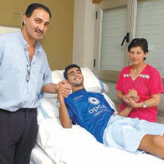 Albiol atendió a MARCA durante su estancia en el hospital.