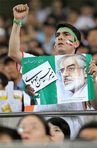 Un aficionado pro Mousavi